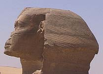 Profile of Sphinx of Giza