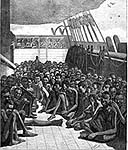 Slave ship during Middle Passage